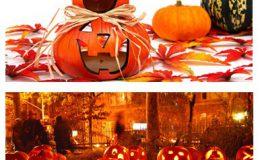 Sử dụng bí ngô để trang trí nhà dịp Halloween.